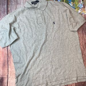 Polo by Ralph Lauren Heather Gray Polo Shirt Large